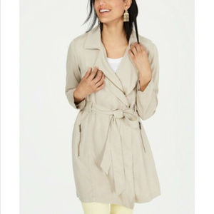 STYLE & Co Womens Plus Size Trench Coat